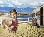Lawn chair voyeurs, collage
