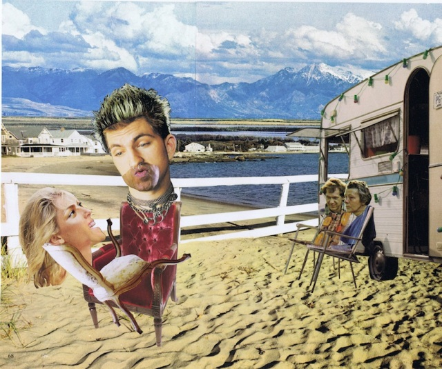 Lawn chair voyeurs, collage