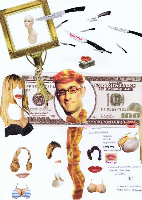 Trophy wife, collage
