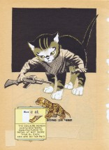 War Cat - What's going on here, collage by katie blake 2015